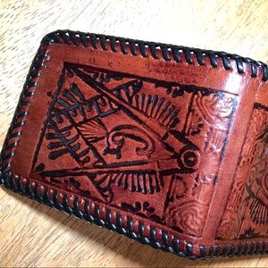 no brand Accessories - Vintage Masonic hand tooled wallet